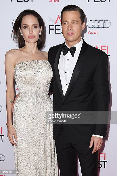 Writerdirectorproduceractress Angelina Jolie Pitt and actorproducer Brad Pitt attend the opening night gala premiere of Universal Pictures' 'By the...