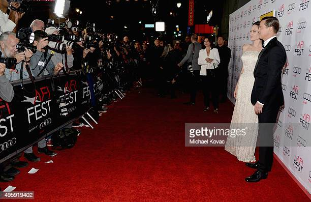 Writerdirectorproduceractress Angelina Jolie Pitt and actorproducer Brad Pitt attend the opening night gala premiere of Universal Pictures' By the...