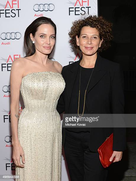 Writerdirectorproduceractress Angelina Jolie Pitt and chairman of Universal Pictures Donna Langley attend the opening night gala premiere of...