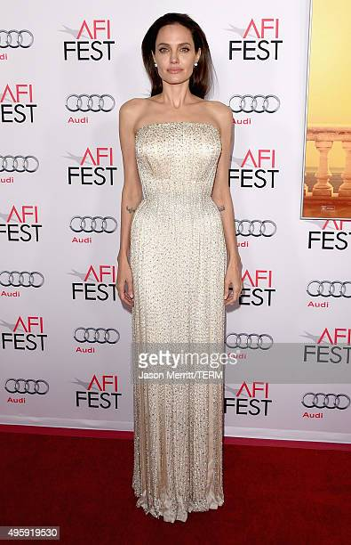 """Writer-director-producer-actress Angelina Jolie Pitt attends the opening night gala premiere of Universal Pictures' """"By the Sea"""" during AFI FEST 2015..."""