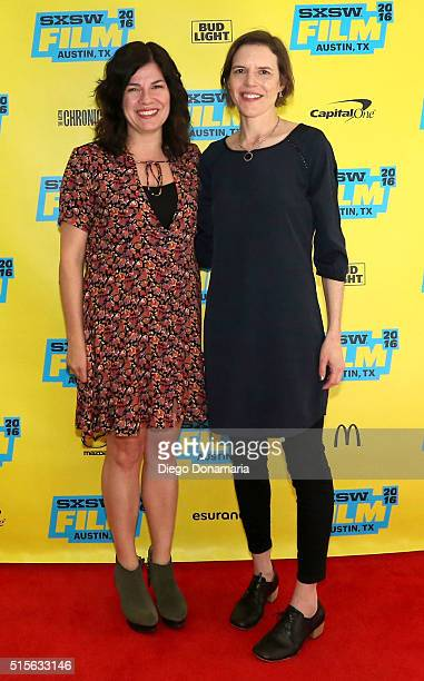 Writer/directors Annie J Howell and Lisa Robinson attend the premiere of 'Claire in Motion' during the 2016 SXSW Music Film Interactive Festival at...