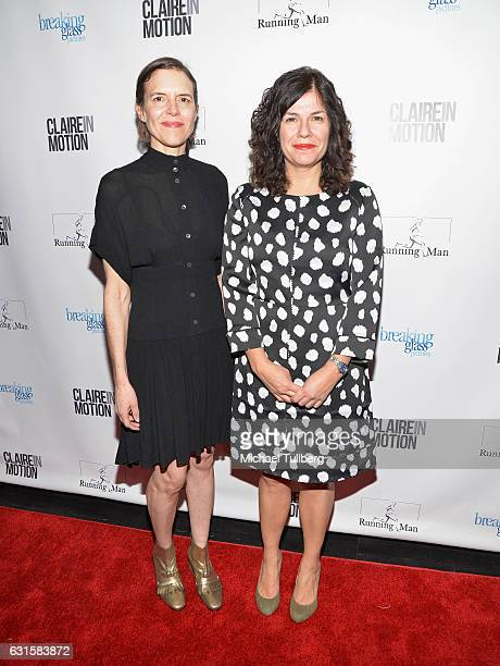 Writer/Directors Lisa Robinson and Annie J Howell attend the premiere Of Breaking Glass Pictures' 'Claire In Motion' at Laemmle Monica Film Center on...
