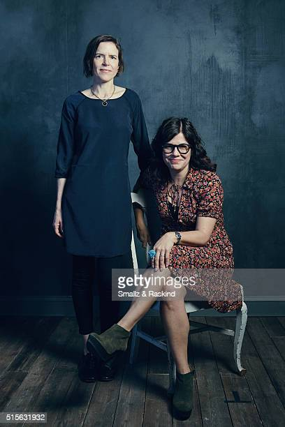 Writer/directors Lisa Robinson and Annie J Howell of 'Claire In Motion' are photographed in the Getty Images SXSW Portrait Studio powered by Samsung...