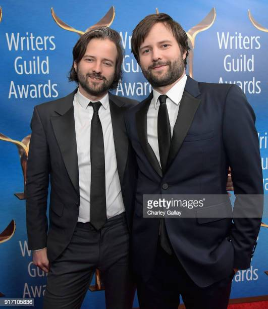 Writerdirectors Matt Duffer and Ross Duffer attend the 2018 Writers Guild Awards LA Ceremony at The Beverly Hilton Hotel on February 11 2018 in...