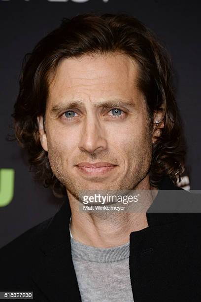 Writer/Executive Producer Brad Falchuk arrives at The Paley Center For Media's 33rd Annual PALEYFEST Los Angeles ÒScream Queens' at Dolby Theatre on...