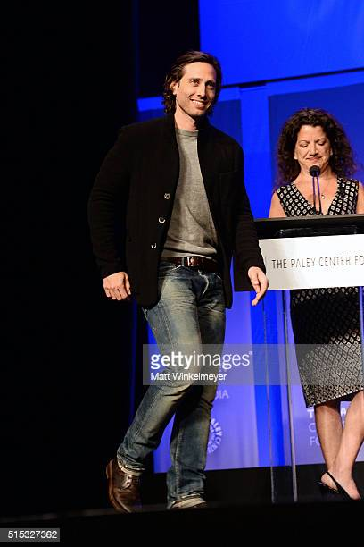 Writer/Executive Producer Brad Falchuk attends The Paley Center For Media's 33rd Annual PALEYFEST Los Angeles ÒScream Queens' at Dolby Theatre on...