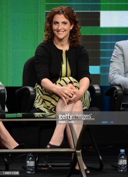 Writer/executive producer Jennie Snyder Urman speaks at the Emily Owens MD discussion panel during the CW portion of the 2012 Summer Television...