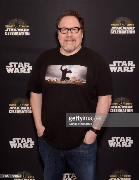 Writer/executive producer Jon Favreau attends The Mandalorian panel at the Star Wars Celebration at McCormick Place Convention Center on April 14...