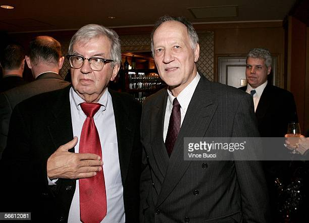 Writer/Executive Producer Larry McMurtry and Director Werner Herzog attend the cocktail reception for 31st Annual Los Angeles Film Critics...
