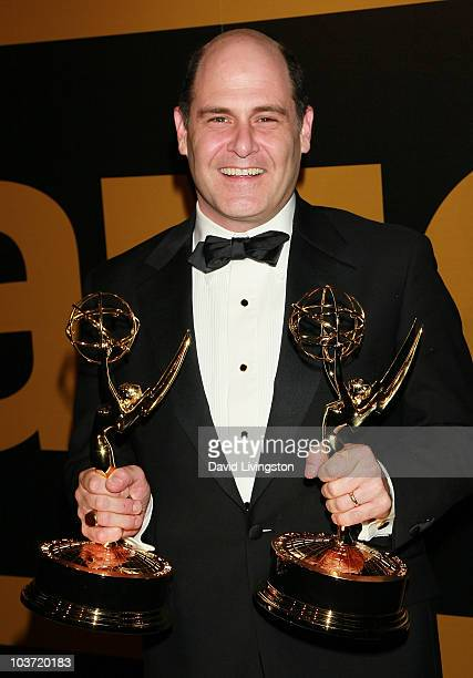 Writer/executive producer Matthew Weiner attends the AMC After Party for the 62nd Annual EMMY Awards at Soho House on August 29 2010 in West...