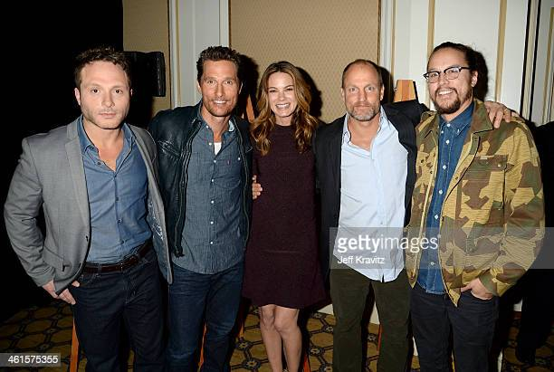 Writer/executive producer Nic Pizzolatto actors Matthew McConaughey Michelle Monaghan Woody Harrelson and director/executive producer Cary Fukunaga...