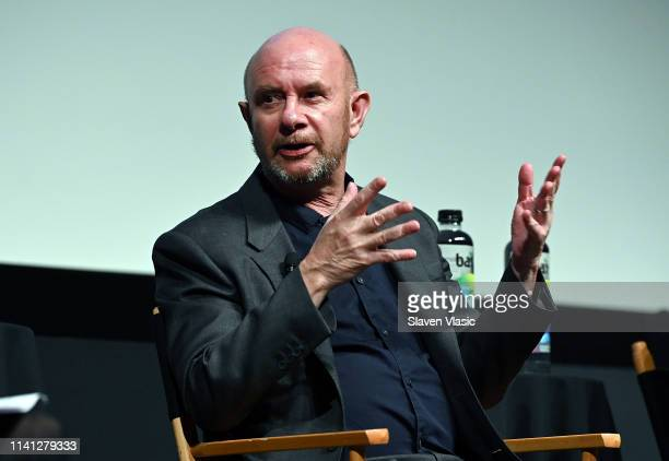 Writer/executive producer Nick Hornby attends panel for New York premiere of SundanceTV's new TV series State Of The Union screening at Tribeca Film...
