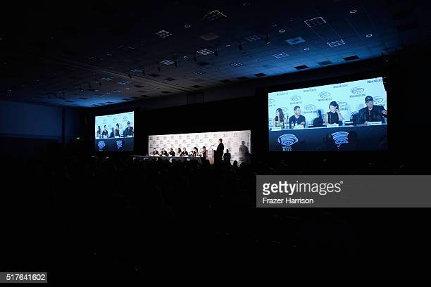 Writer/executive producers Steven Kane Hank Steinberg actors Jocko Sims Marissa Neitling Travis Van Winkle Bridget Regan and Adam Baldwin speak on...