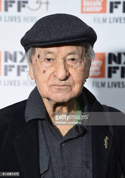 """Writer/film subject Jonas Mekas attends the """"I Had Nowhere To Go"""" intro and Q&A during the 54th New York Film Festival at The Film Society of Lincoln..."""