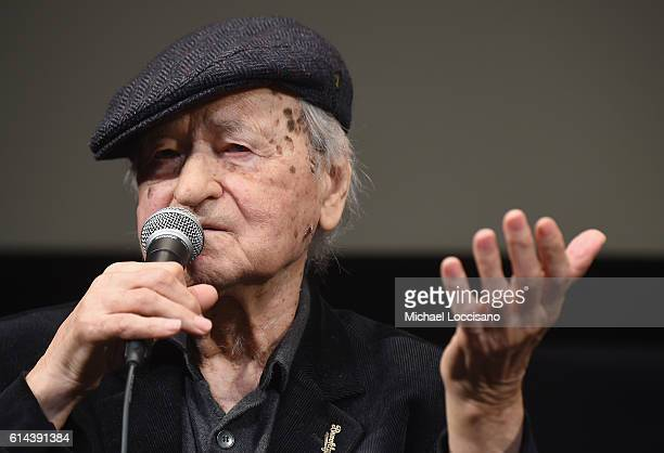 Writer/film subject Jonas Mekas takes part in a QA following the I Had Nowhere To Go screening during the 54th New York Film Festival at The Film...