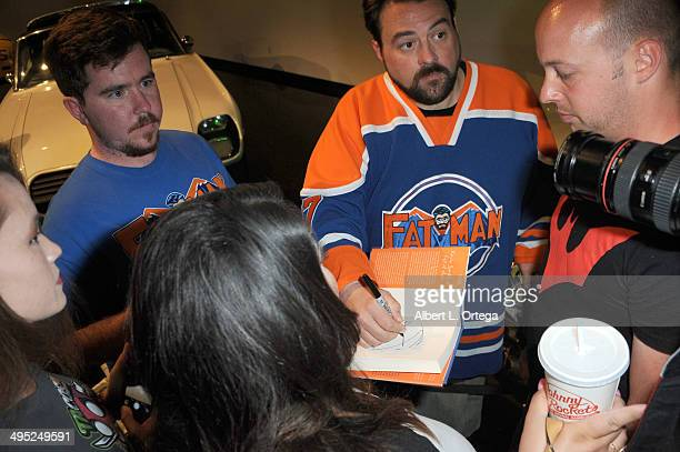 Writer/host Kevin Smith meets and takes photos with fans at the 'Batman 66 Meets The Green Hornet' Comic Book Kickoff Fatman On Batman Live Podcast...
