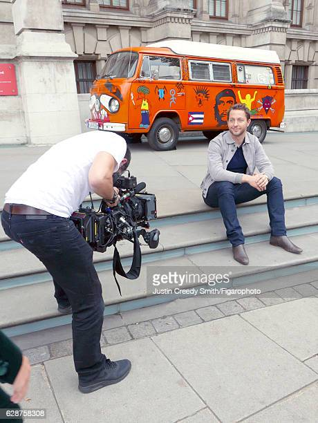 Writer/journalist Derek Blasberg is photographed for Madame Figaro on September 20 2016 at the V A Museum where an exhibition on the musical...