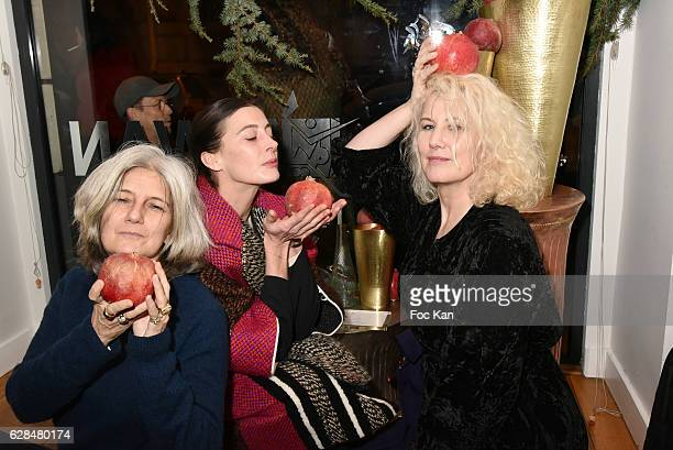 Writer/journalist Sophie Fontanel from L'Obs former Top model Christine Bergstrom and opera star dancer Marie Agnes Gillot attend Liza Liwan...