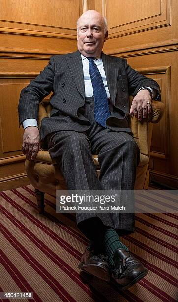 WriterJulian Fellowes is photographed for Paris Match on May 12 2014 in Paris France
