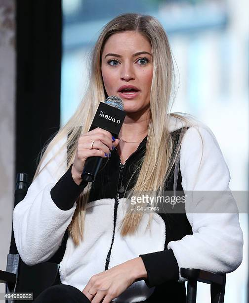 Writer/media personality Justine Ezarik attends AOL BUILD Presents: Stream Con NYC at the AOL Studios In New York on October 30, 2015 in New York...