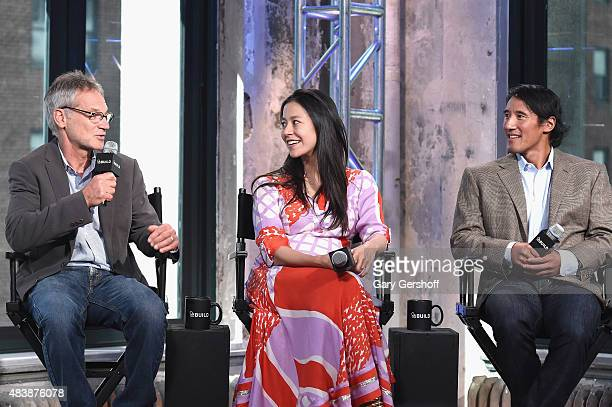 "Writer/mountaineer Jon Krakauer, filmmakers E.Chai Vasarhelyi and Jimmy Chin attend AOL Build Presents: ""MERU"" at AOL Studios In New York on August..."