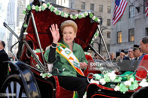 Writer/novelist Mary Higgins Clark attends the 250th Annual St Patrick's Day Parade on the Streets of Manhattan on March 17 2011 in New York City