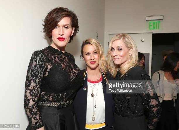 Writer/pianist Our Lady J singer Alanis Morissette and actor Judith Light attend the Amazon Studios Emmy For Your Consideration Event at Hollywood...