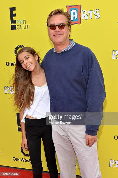 Writer/Producer Aaron Sorkin and daughter Roxy Sorkin attend the P.S. Arts Express Yourself 2013 event held at Barker Hangar on November 17, 2013 in...