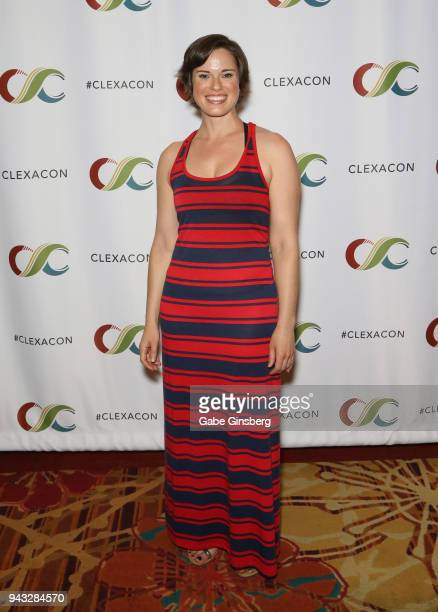 Writer/producer Amy Dellagiarino attends the ClexaCon 2018 convention at the Tropicana Las Vegas on April 7 2018 in Las Vegas Nevada