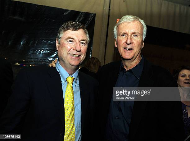 Writer/producer Andrew Wight and executive producer James Cameron attend the Premiere of Universal Pictures' Sanctum after party at The Highlands on...