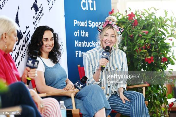 Writer-producer Anne Beatts, and Actors Sudi Green and Heidi Gardner speak onstage during 'Comedy Roundtable: SNL Writers' Room Gold' at First...