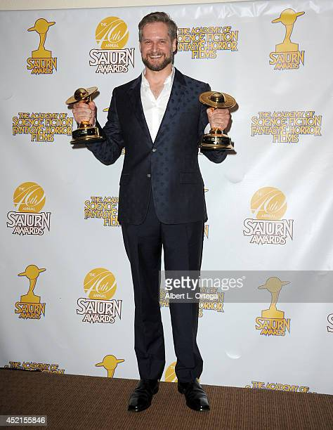 Writer/producer Bryan Fuller accepts the Award for best Network TV Series 'Hannibal' at the 40th Annual Saturn Awards held at The Castaway on June 26...