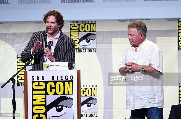 Writer/producer Bryan Fuller and actor William Shatner attend the 'Star Trek' panel during ComicCon International 2016 at San Diego Convention Center...