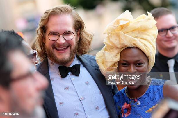 Writer/producer Bryan Fuller and actress Yetide Badaki attend the opening night gala of 'God's Own Country' at the 2017 Outfest Los Angeles LGBT Film...