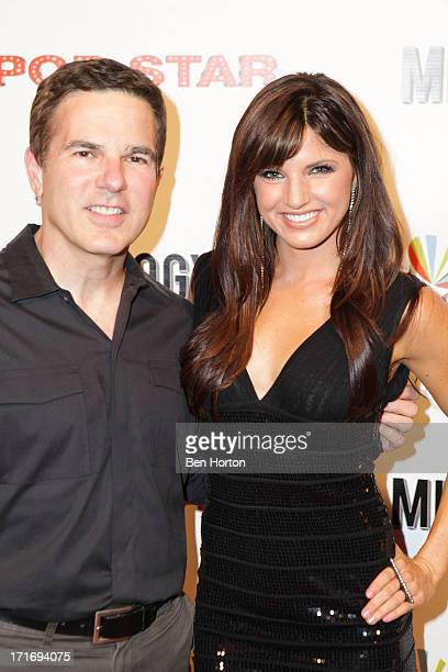 Writer/producer Carlos Portugal and actress Rachele Brooke Smith attend the premiere of 'Pop Star' at Mixology101 Planet Dailies on June 27 2013 in...