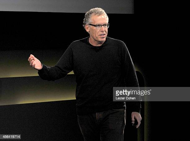 Writer/producer Carlton Cuse speaks onstage at the WIRED by Design retreat at Skywalker Sound on September 30 2014 in Marin County California