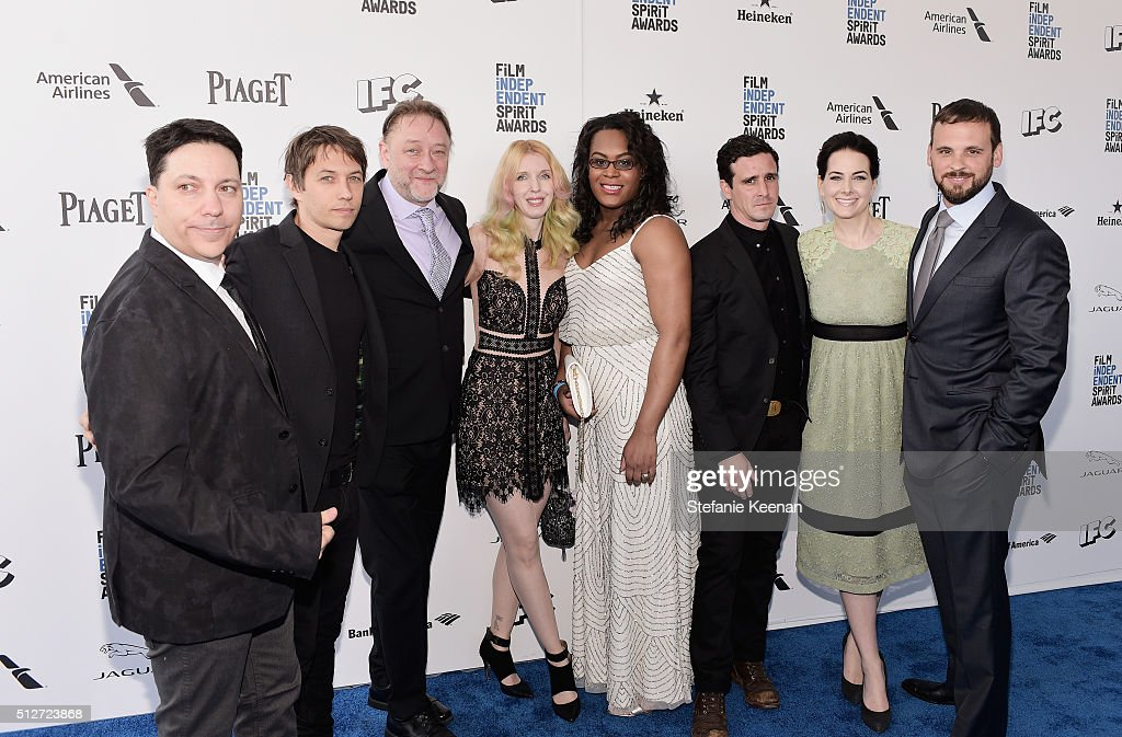 Writer/producer Chris Bergoch, director/writer Sean Baker, producer Darren Dean, actress Mickey O'Hagan, actress Mya Taylor, actor James Ransone, and producers Karrie Cox and Marcus Cox attend the 2016 Film Independent Spirit Awards sponsored by Piaget on February 27, 2016 in Santa Monica, California.