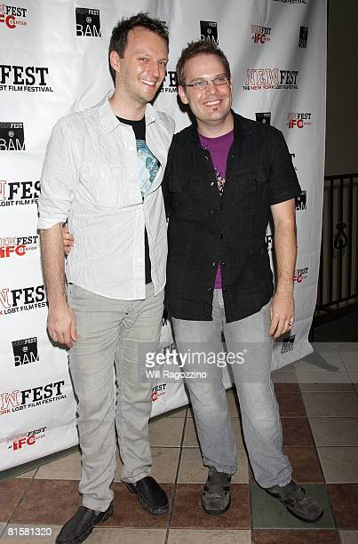 Writer/producer Cory James Krueckeberg and director Tom Gustafson attend the 20th Annual Newfest Were The World Mine Premiere on June 15 2008 at AMC...
