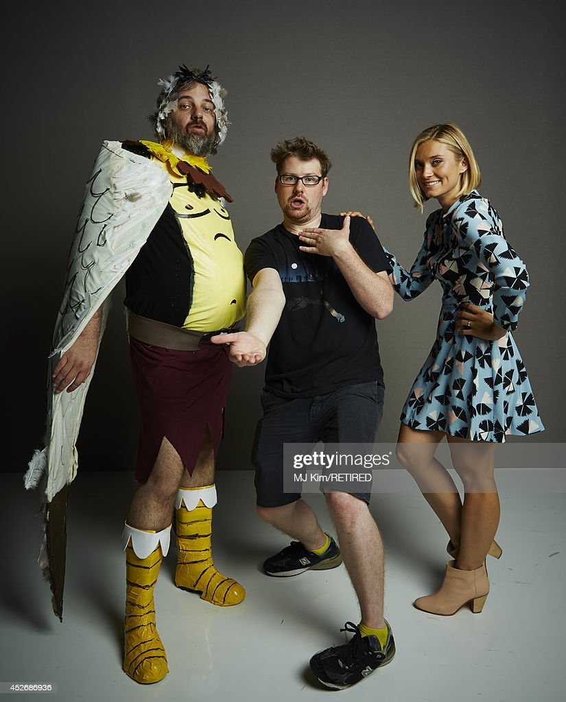 Writer/producer Dan Harmon, actor Justin Roiland, and