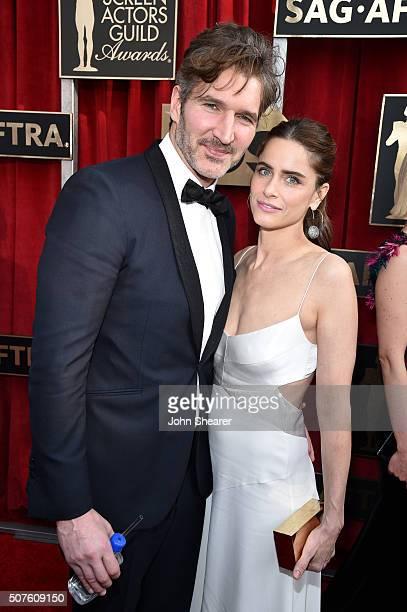 Writer/producer David Benioff and actress Amanda Peet attend the 22nd Annual Screen Actors Guild Awards at The Shrine Auditorium on January 30 2016...