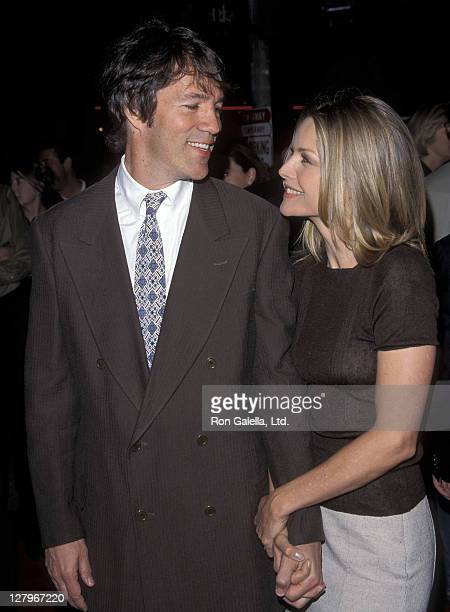 Writer/Producer David E Kelley and actress Michelle Pfeiffer attend 'A Midsummer Night's Dream' Westwood Premiere on April 26 1999 at Mann Bruin...