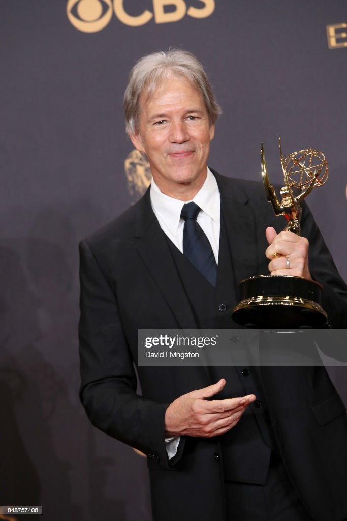 Writer-producer David E. Kelley, winner of Outstanding Limited Series or Movie for 'Big Little Lies', poses in the press room during the 69th Annual Primetime Emmy Awards at Microsoft Theater on September 17, 2017 in Los Angeles, California.
