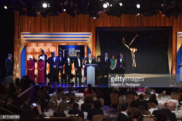Writerproducer David Mandel and the writers of 'Veep' accept the Comedy Series award onstage during the 2018 Writers Guild Awards LA Ceremony at The...