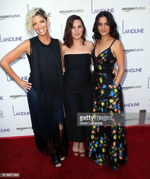 Writer/producer Elisabeth Holm director Gillian Robespierre and actress Jenny Slate attend the premiere of Amazon Studios' Landline at ArcLight...