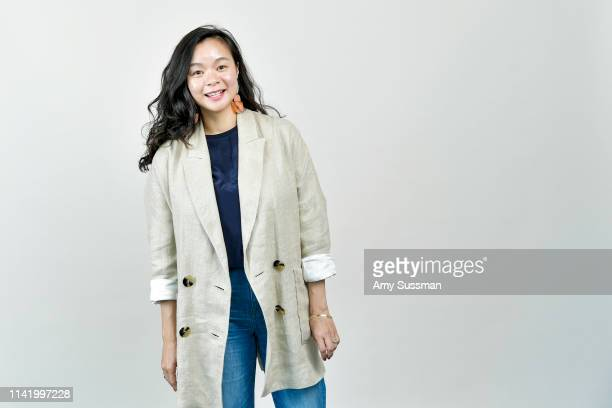Writer/producer Elizabeth Ai from 'A Woman's Work The NFLs Cheerleader Problem' is photographed at the Los Angeles Asian Pacific Film Festival on May...