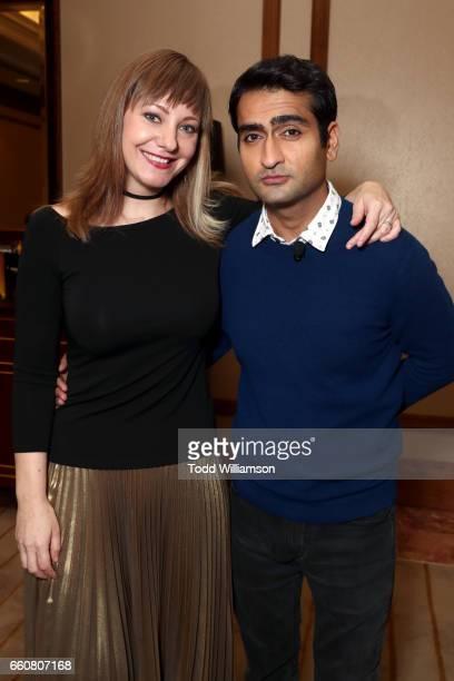 Writer/producer Emily V Gordon and actor Kumail Nanjiani at Amazon Studios 2017 CinemaCon Presentation at Caesars Palace during CinemaCon the...