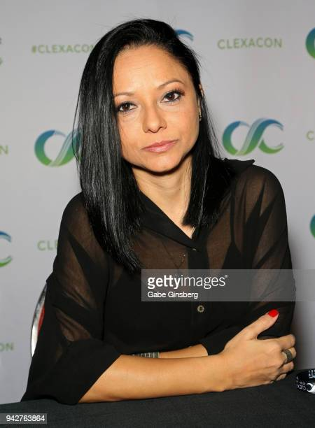 Writer/producer Germana Belo attends the ClexaCon 2018 convention at the Tropicana Las Vegas on April 6 2018 in Las Vegas Nevada