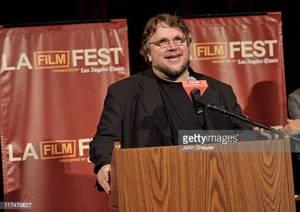 Writer/Producer Guillermo del Toro speaks onstage at the Don't Be Afraid of The Dark Closing Night Gala screening introduction during the 2011 Los...