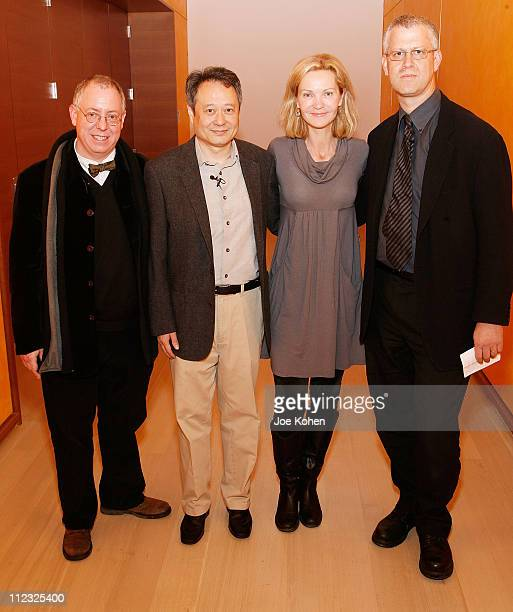 Writer/Producer James Schamus Director Ang Lee Actress Joan Allen and David Schwartz Curator of the Museum of The Moving Image at a panel discussion...