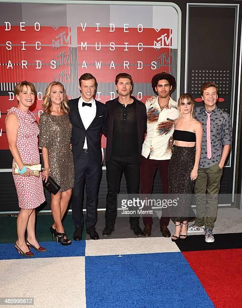 Writer/producer Jill E Blotevogel actors Tracy Middendorf Connor Weil Amadeus Serafini Tom Maden Carlson Young and John Karna attend the 2015 MTV...